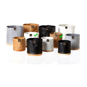 Oohh Recyclingübertopf - ´´Creasd Cylinder Pot - medium´´