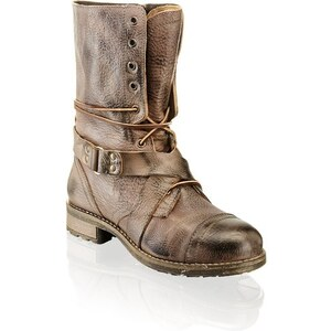 Glattleder-Boot Buffalo taupe
