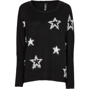RAINBOW Strickpullover mit Sternen in schwarz für Damen von bonprix