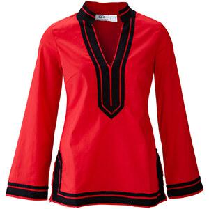 BODYFLIRT Bluse langarm figurumspielend in rot von bonprix