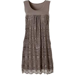 BODYFLIRT Shirtkleid ohne Ärmel in grau (Rundhals) von bonprix