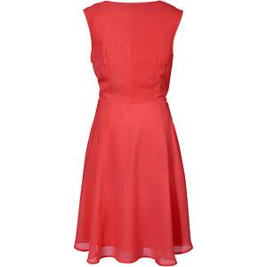 BODYFLIRT Kleid ohne Ärmel figurbetont in rot (Wasserfall-Ausschnitt) von bonprix