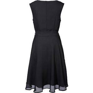 BODYFLIRT Kleid ohne Ärmel figurbetont in schwarz (Wasserfall-Ausschnitt) von bonprix