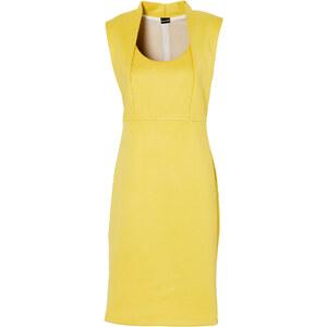 BODYFLIRT Shirtkleid/Sommerkleid ohne Ärmel in gelb (Rundhals) von bonprix