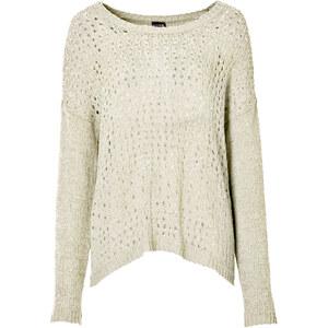 BODYFLIRT Pullover langarm in natur (Rundhals) für Damen von bonprix