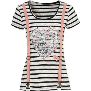RAINBOW Shirt mit Hosenträgern in grau für Damen von bonprix