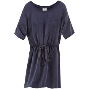 CANNERY ROW VINTAGE Kleid, Tunnelzug, gerade geschnitten, Materialmix, Waschseide