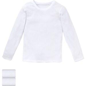 Marks and Spencer 2er-Pack langärmelige Unterhemden aus reiner Baumwolle (1–16 Jahre)