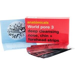 Anatomicals - World Pore 3 - Nettoyage en profondeur - Bandes pour nez, menton et front - World pore