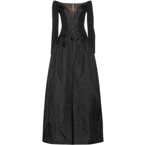 Alessandra Rich Silk And Lace Dress