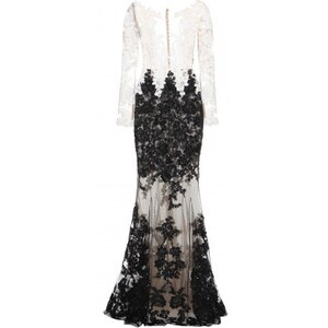 Zuhair Murad Sequin Silk Chiffon Dress