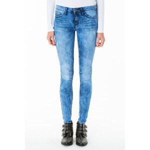 Tally Weijl Mittelblaue Jeans mit Acid-Waschung