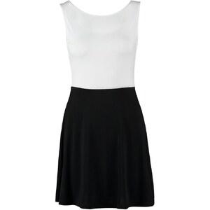 Even&Odd Jerseykleid white / black