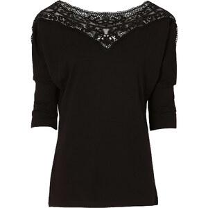 BODYFLIRT Shirt 3/4 Arm in schwarz (U-Boot-Ausschnitt) für Damen von bonprix