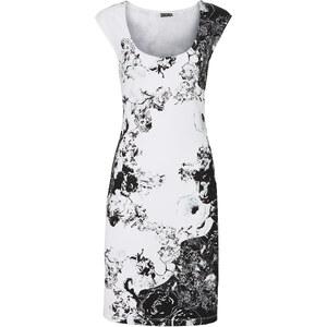 BODYFLIRT Shirtkleid/Sommerkleid in weiß von bonprix