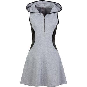 RAINBOW Kleid mit Kapuze ohne Ärmel in grau von bonprix