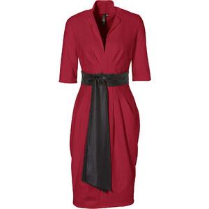 BODYFLIRT boutique Kleid halber Arm in rot von bonprix