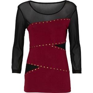 BODYFLIRT boutique Shirt 3/4 Arm in rot für Damen von bonprix