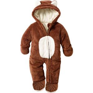 bpc bonprix collection Baby Teddyfleece Overall langarm in braun von bonprix
