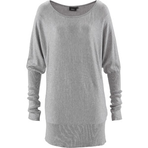 bpc bonprix collection Oversize-Pullover langarm in grau für Damen von bonprix
