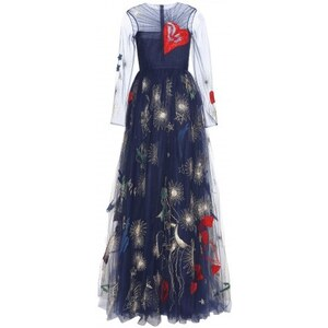 Valentino Embroidered Evening Gown
