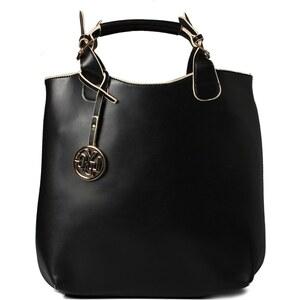 Černá obdélníková kabelka LYDC
