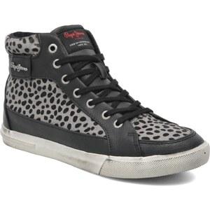 Pepe jeans - Macclain Animal Print - Sneaker für Damen / schwarz