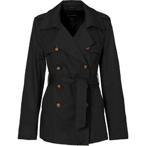 BODYFLIRT Trenchcoat langarm figurbetont in schwarz für Damen von bonprix