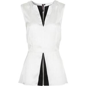 RAINBOW Bluse ohne Ärmel in weiß (Rundhals) von bonprix