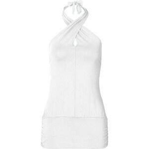 BODYFLIRT Neckholdertop ohne Ärmel in weiß für Damen von bonprix