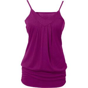 BODYFLIRT Top ohne Ärmel lässig-bequem in lila (V-Ausschnitt) für Damen von bonprix