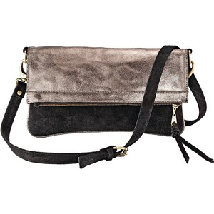 FAB. Clutch, Metallic-Optik, Zweifarbig