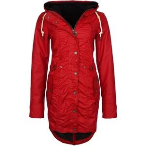 Dreimaster Regenjacke / wasserabweisende Jacke rot