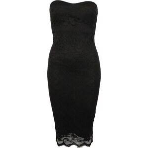 Sexy černé šaty Ax Paris bez ramínek