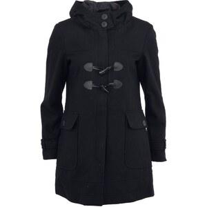 Černý kabát s kapucí Oxmo