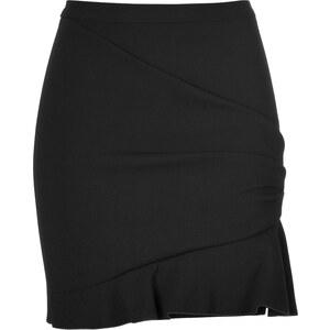 Emilio Pucci Wool Blend Ruffle Hem Skirt