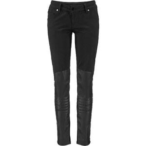 RAINBOW Hose mit Lederimitat in schwarz für Damen von bonprix