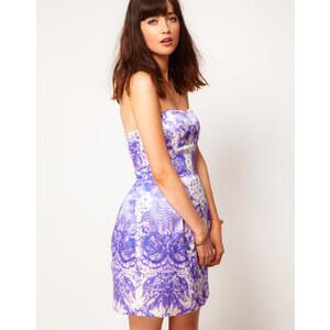ASOS Bandeau Dress In Floral Print