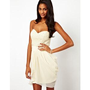 Lipsy – VIP – Kleid mit Pailletten- und perlenbesetztem Oberteil