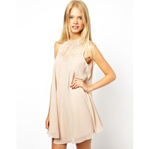 ASOS Swing Dress With Lace Insert and Collar