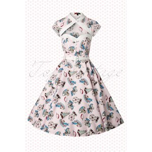 Bunny 50s Madeline Sweetheart Swing Dress in Pink