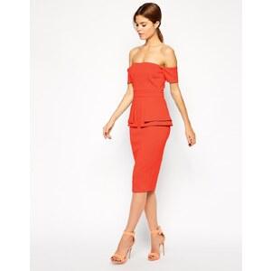 ASOS - Kleid im Bardot-Stil mit zweilagigem Schößchen