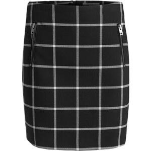 Esprit Stretchiger Karo-Rock mit Zippertaschen