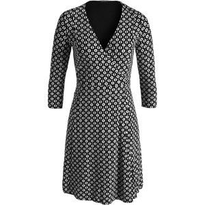 Esprit Fließendes Jersey-Wickelkleid mit Print