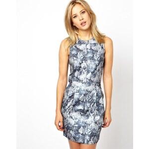 ASOS Floral Metallic Denim Dress