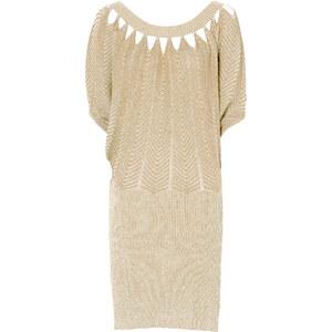 BODYFLIRT boutique Strickkleid/Sommerkleid halber Arm in beige von bonprix
