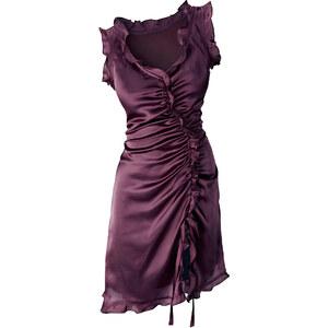 BODYFLIRT Satin-Kleid ohne Ärmel in lila von bonprix