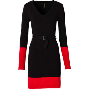 Kleid langarm in schwarz von bonprix