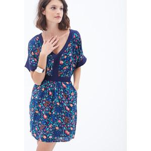 LOVE21 Geblümtes Kleid mit Fledermausärmeln