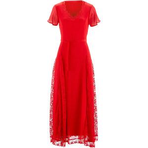 bpc selection Spitzenkleid/Sommerkleid kurzer Arm in rot von bonprix